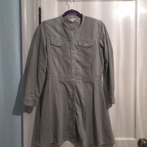 Gap corduroy shirt dress
